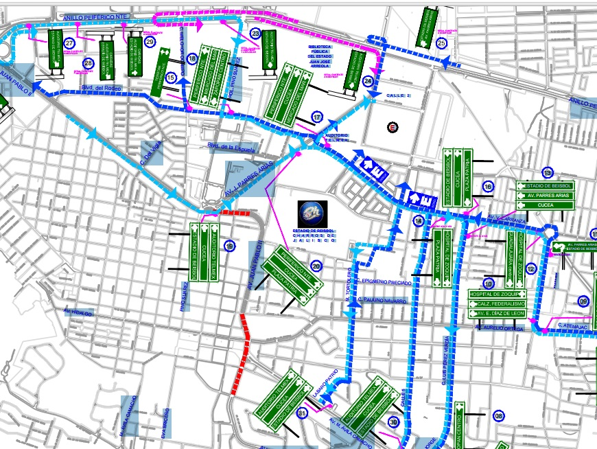Charros Mapa