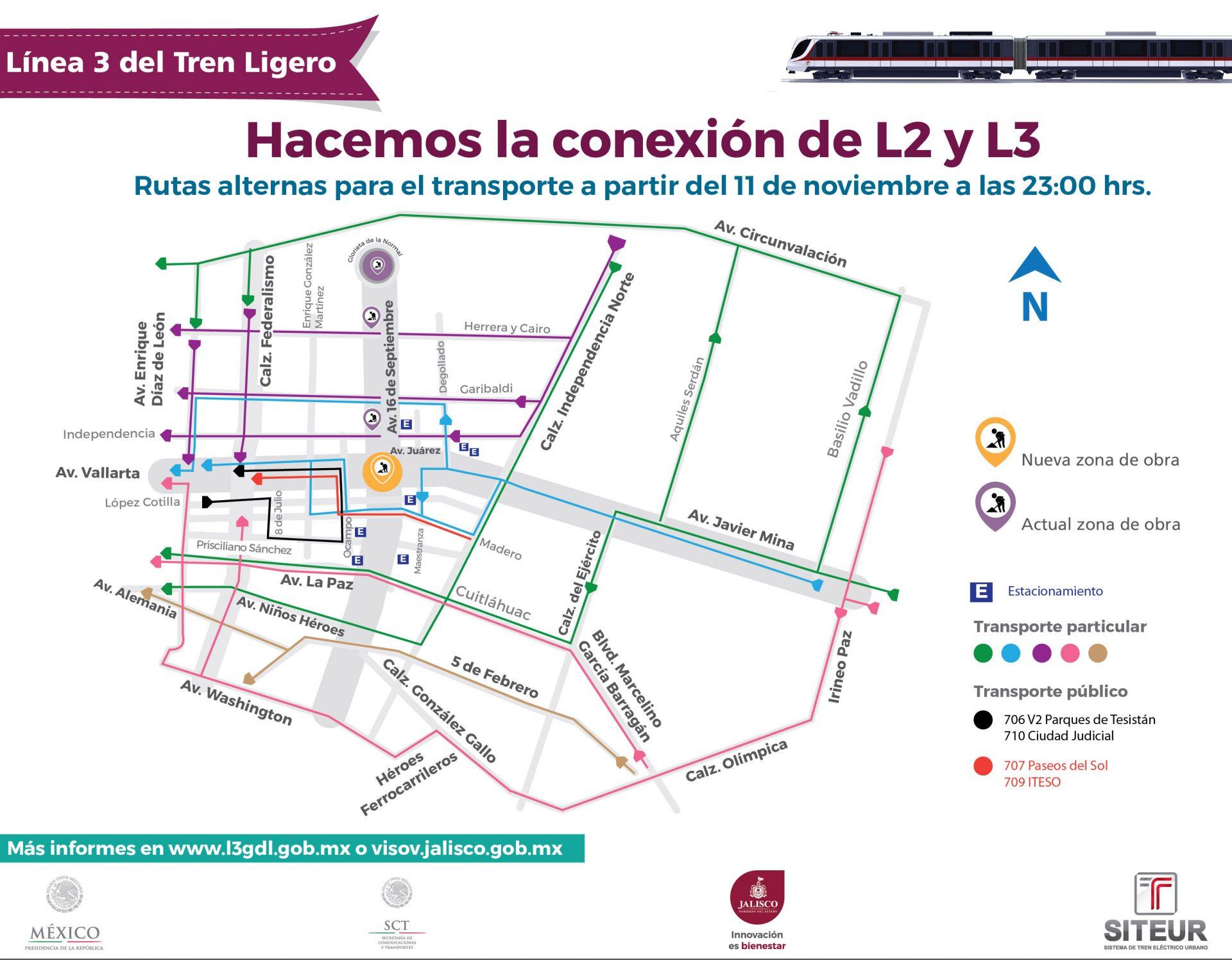 CIERRE VÍAL JUAREZ Y ALCALDE FASE DOS estacionamientosINFORMES