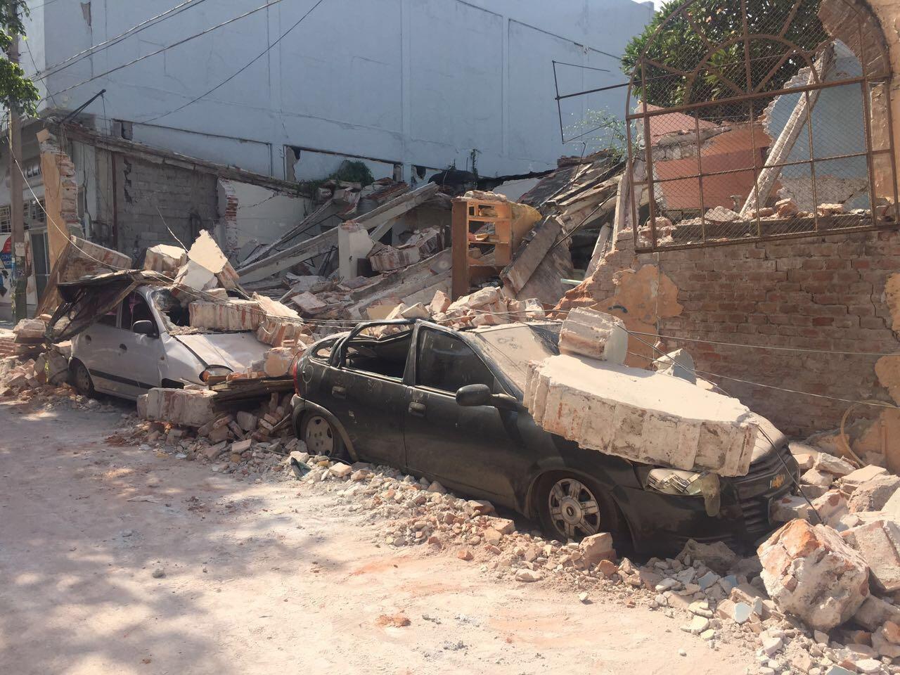 Jojutla Destruido Tras El Sismo Tr Fico Zmg # Muebles En Jojutla Morelos