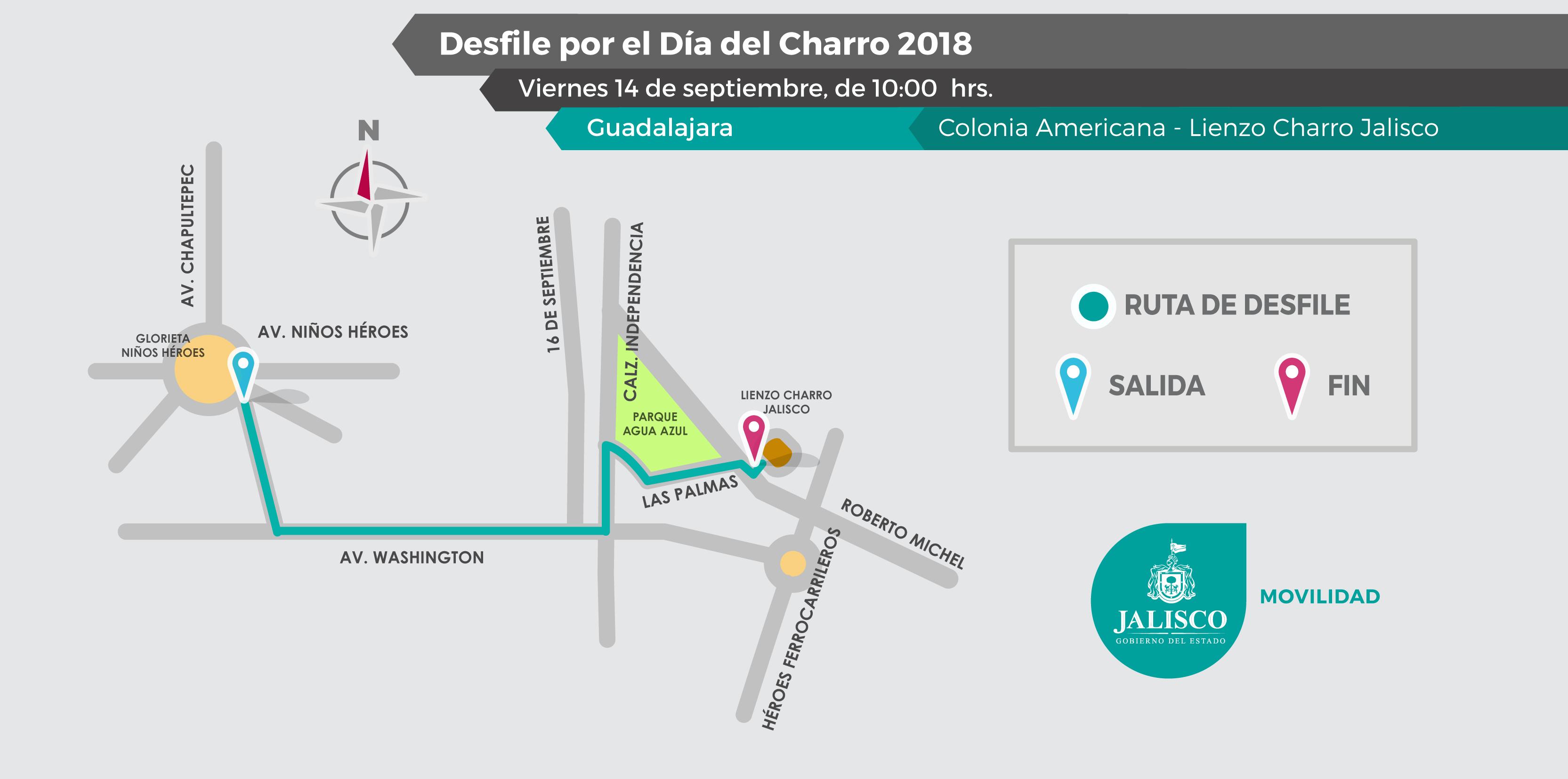 Por Desfile del Día del Charro habrá restricciones viales - Tráfico ZMG 6864b6b5807