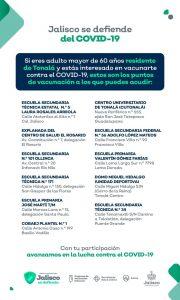 Resguardan policías municipales centros de vacunación en Tonalá