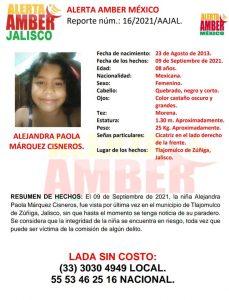 Realizan operativos de búsqueda de una menor desaparecida en Tlajomulco